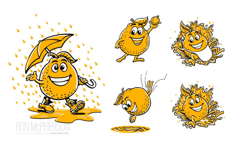 Harry & David Honeybell Orange character