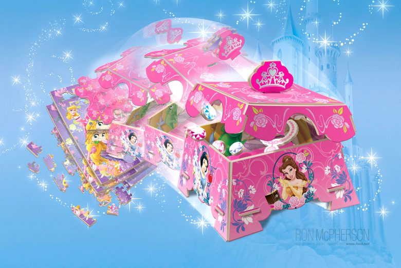 2d Princess puzzle to 3d Jewel Chest