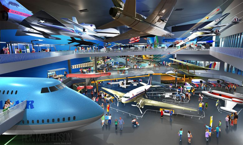 View of the Air Museum Galleries