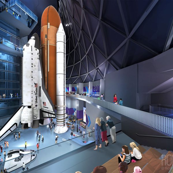 Entry view of the Space Shuttle Endeavor