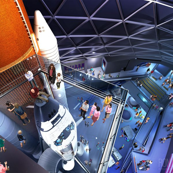 View from above the Space Shuttle Endeavor