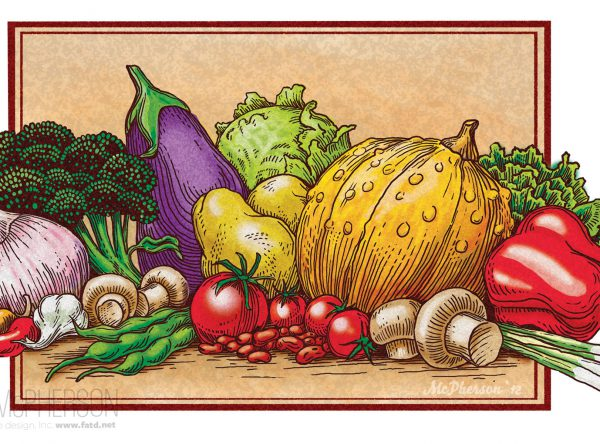 Food Packaging Illustration