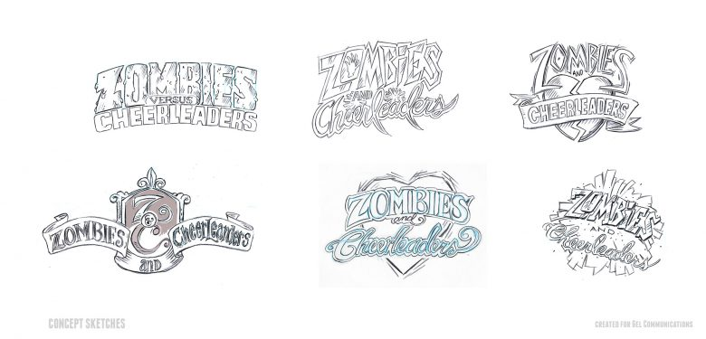Zombies & Cheerleaders Logo Concepts