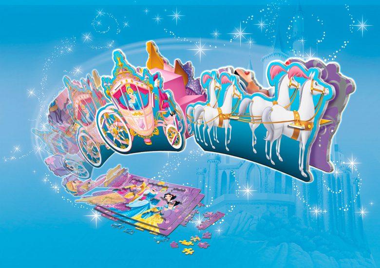2d Puzzle to 3d Princess Carriage